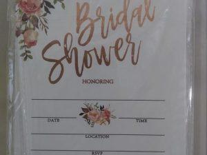 Crisky Rose Gold Foil Bridal Shower Invitation