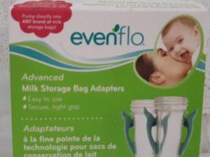 Even Flo 2 Milk Storage Bag Adaptors